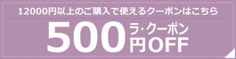 12000円以上のご注文で使える500円引きクーポン